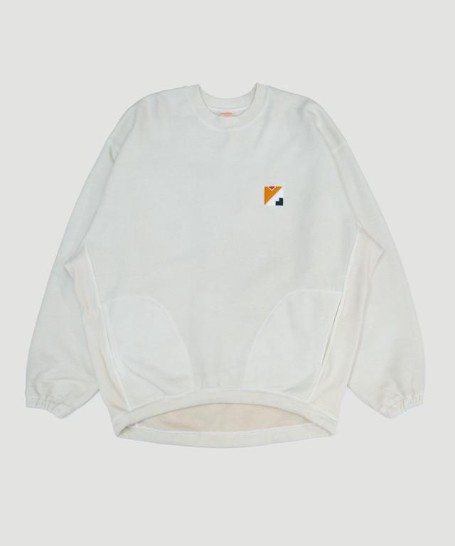 MAISON EUREKA Me Logo Sweat Pullover Vintage White 183