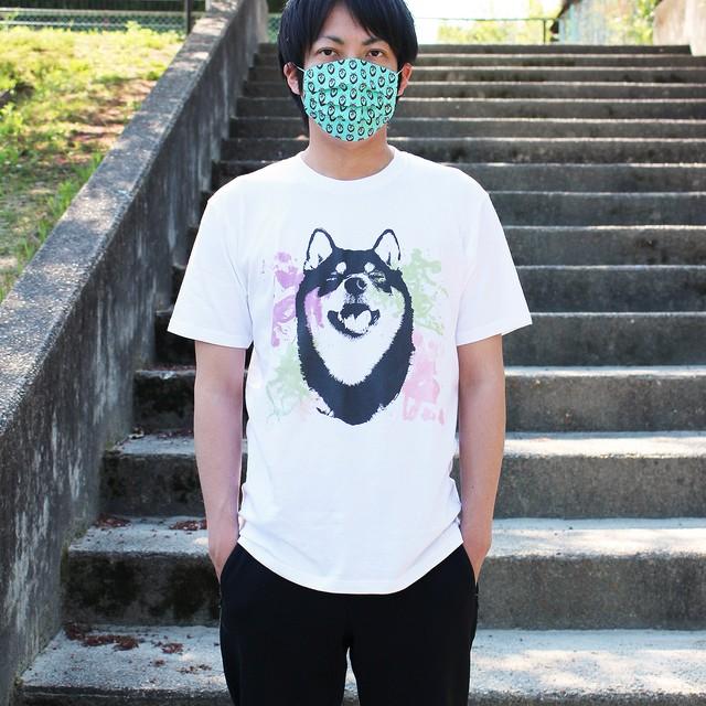 [受注] 水彩アートな柴犬半袖Tシャツ<男女兼用XLサイズ>