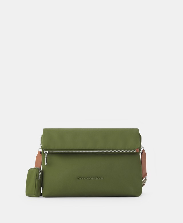 NYLON CROSSBODY WITH ZIP CLOSURE [212601557311]