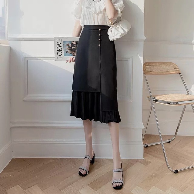 tulle tight skirt 2color