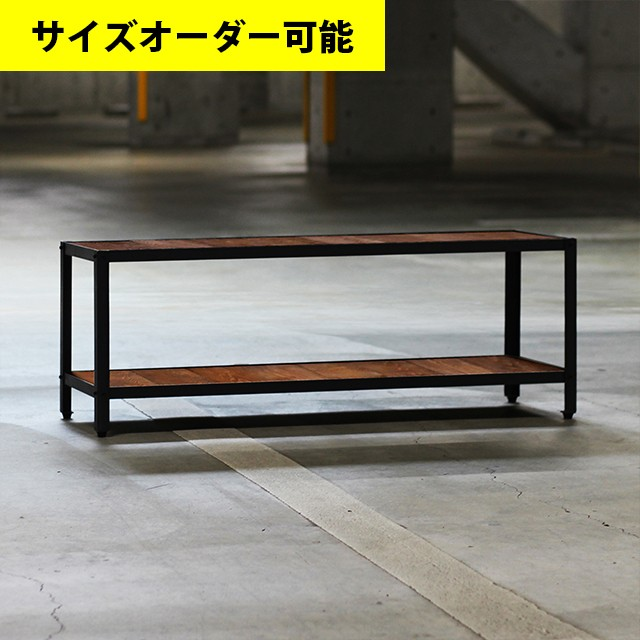 IRON FRAME LOW SHELF FLOAT[TEAK COLOR]サイズオーダー可