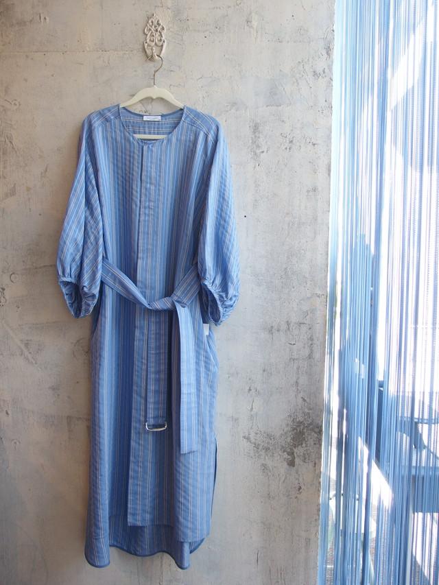 シルク混バルーン袖シャツワンピース【near.nippon  301541-20】
