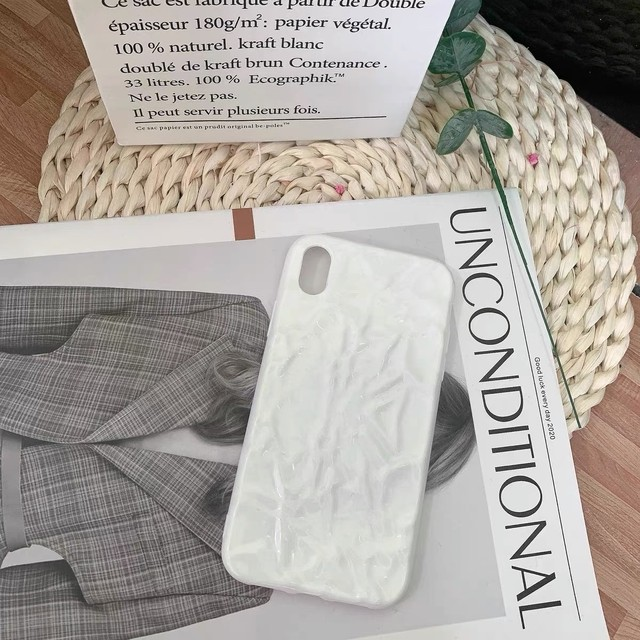 white paint wrinkles silicon iPhone case