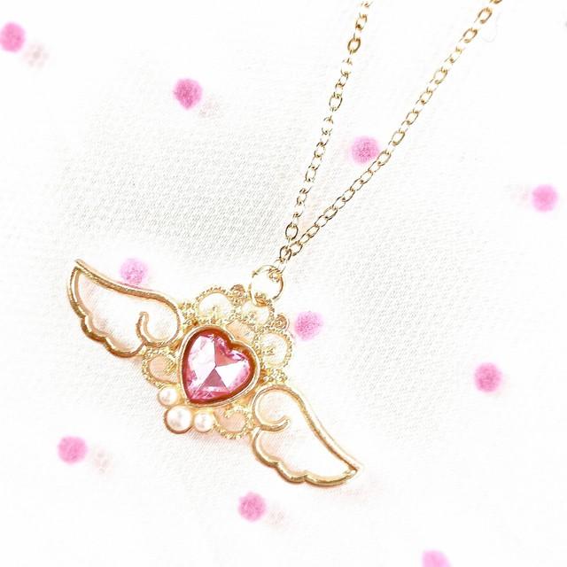 魔法少女ネックレス(ピンク)