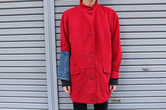 Remake Denim Fake Suede Coat