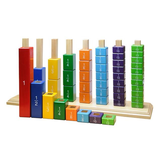 ◆ 分数 分数のお勉強 割り算 数字 数詞 モンテッソーリ 教具 算数教育 触覚 木製 ブロック 数字 小学生 幼稚園 幼児 赤ちゃん 早期教育 幼児教育 知育玩具 おもちゃ