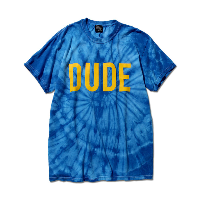"""【STAY DUDE COLLECTIVE】""""DUDE"""" Tie Dye SS Tee 2021 (BLUE)"""