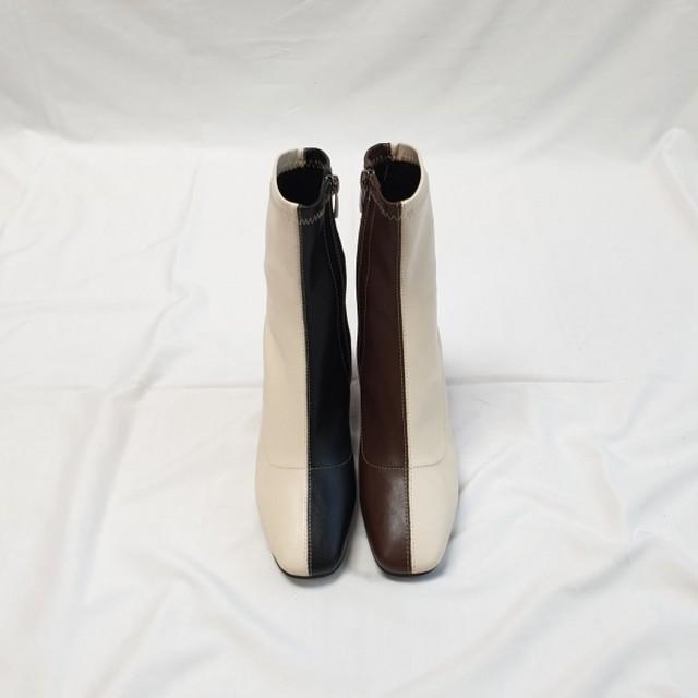 2トーンアンクルブーツ アンクルブーツ ブーツ 韓国ファッション