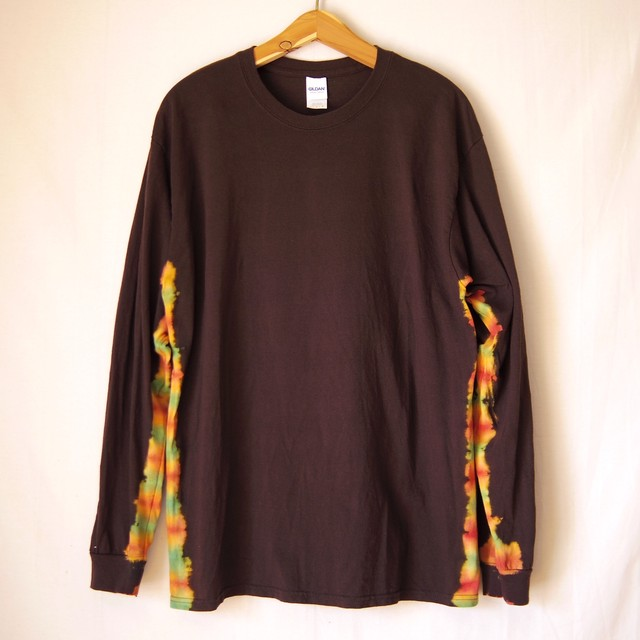 """TKHOME FACTORY """"抜染-nukizome-"""" TieDye Long sleeve T-shits Lsize"""