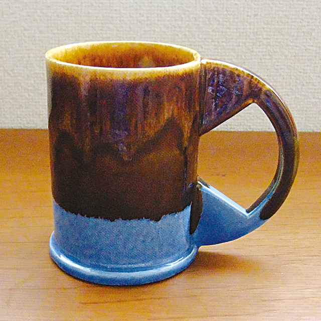 "Echo Park Pottery ""Large Mug"" Blown×Blue"