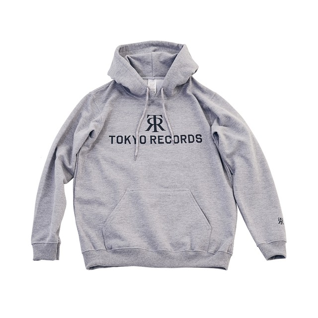 TOKYO RECORDS LOGO HOODIE(GRAY × WHT)