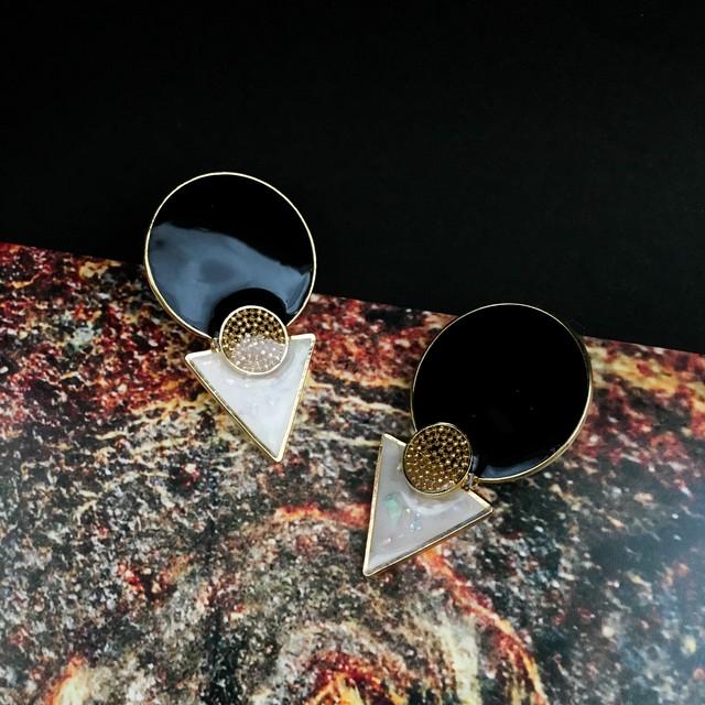 E-3 pierce14KGF/earring(black)