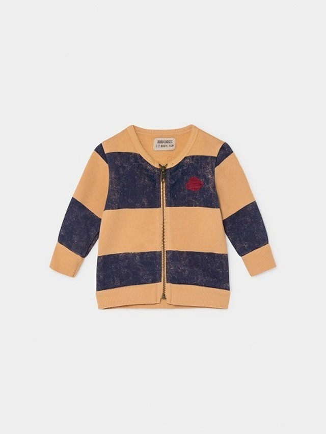 ボボショセス(BOBO CHOSES) -STRIPED SATURN ZIPPED SWEATSHIRT[12-18m/18-24m] カーディガン