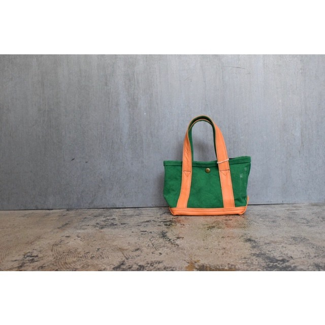 Simva 561-0001grn/org Canvas Leather Tote Mini