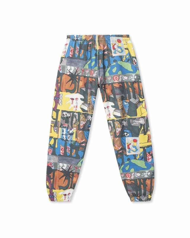 BRAIN DEAD LEON SADLER ALL OVER PRINT SWEATPANT - MULTI