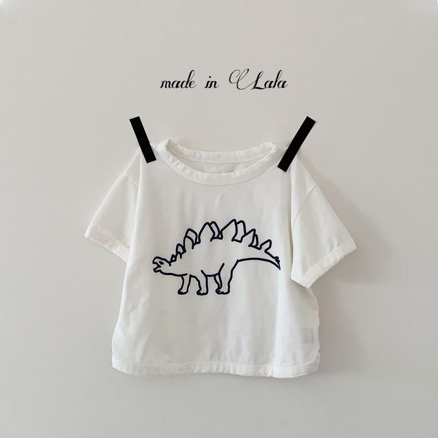 made in LALA Dinosaur Tee  (ホワイト/ステゴサウルス) LalaCloset : BBTFSX0061913_415