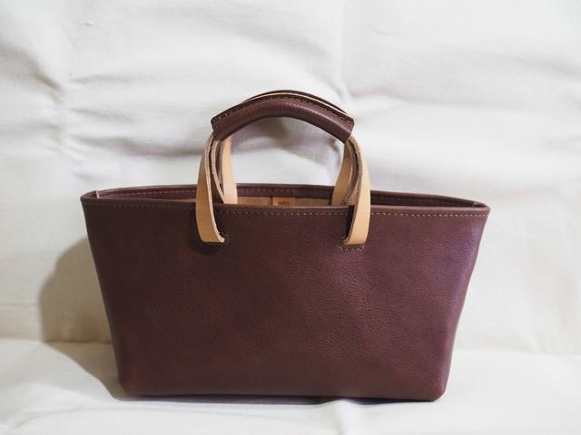 〈K様オーダー品〉トートバッグ/Tote bag チョコ/持ち手高く