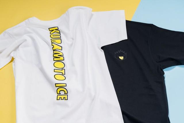 クラモトアイス バックプリントTシャツ ホワイト✕イエロー