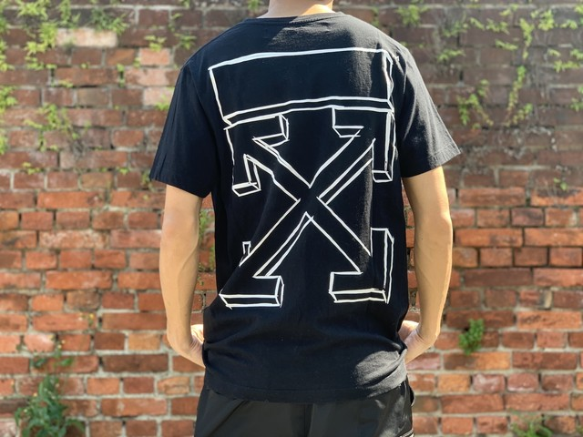 OFF-WHITE 3D ARROW TEE BLACK LARGE 80JA3476