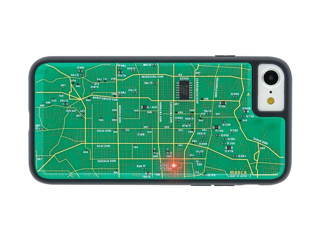 FLASH 京都回路地図 iPhoneSE(第2世代)/7/8 ケース 緑【東京回路線図A5クリアファイルをプレゼント】