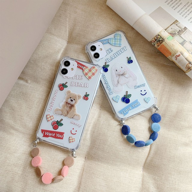 ストラップ付 Graffity animal iphone case