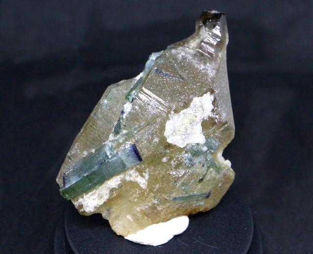 エルバイト スモーキークォーツ ブルートルマリン 煙水晶 電気石 原石 鉱物 天然石 パワーストーン  宝石 T098