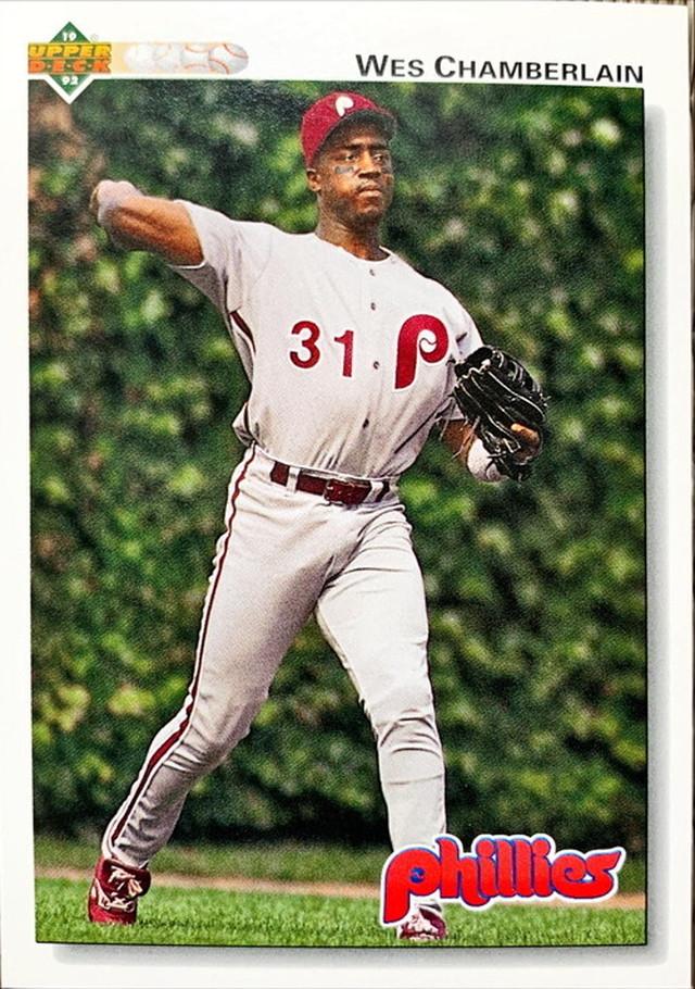 MLBカード 92UPPERDECK Wes Chamberlain #347 PHILLIES