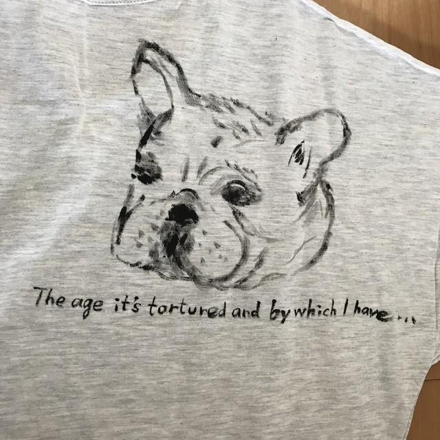 BUHIお絵描きTシャツ(フリーサイズ)アッシュ・クリーム