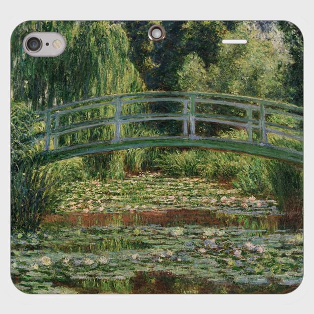 モネ「ジヴェルニーの日本の橋と睡蓮の池 1899」 手帳型スマホケース(帯なしタイプ)