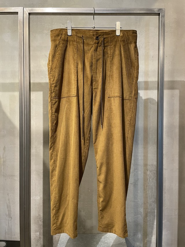 T/f corduroy tapered baker pants - wood