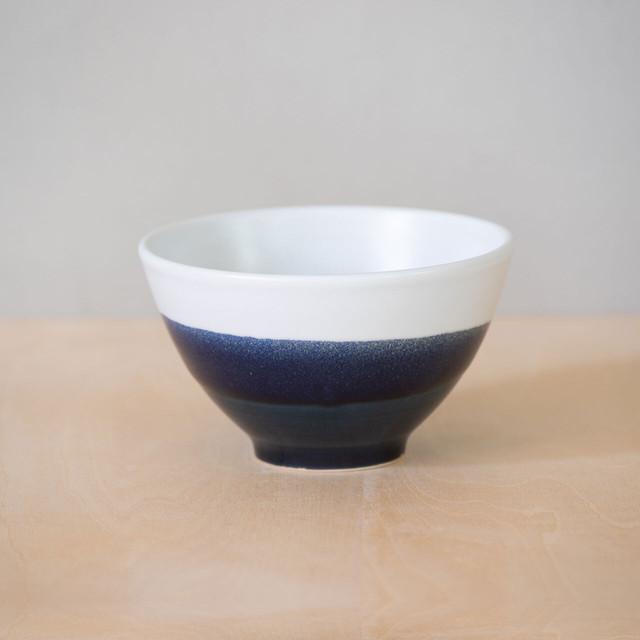 藍釉掛分 茶碗(大)