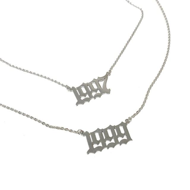 【Cat & Parfum】Custom Birth Year Necklace