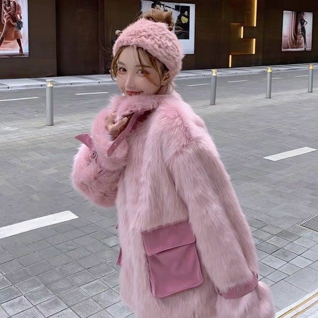 color long fur jacket