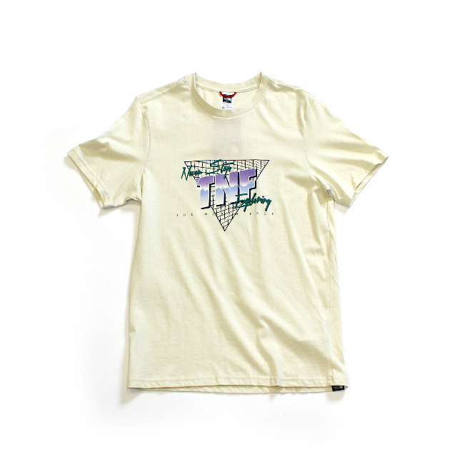 Import / The North Face Retro Graphic T-Shirt / Light Beige