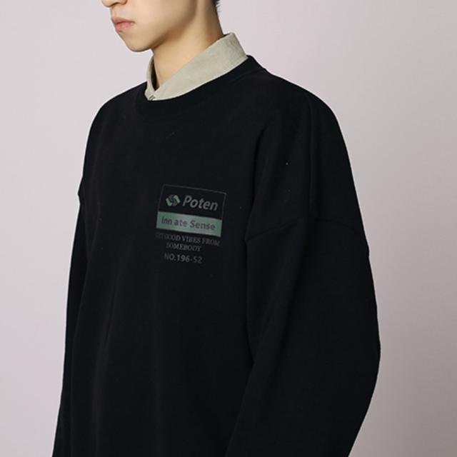 Back logo oversize sweatshirt LD0135