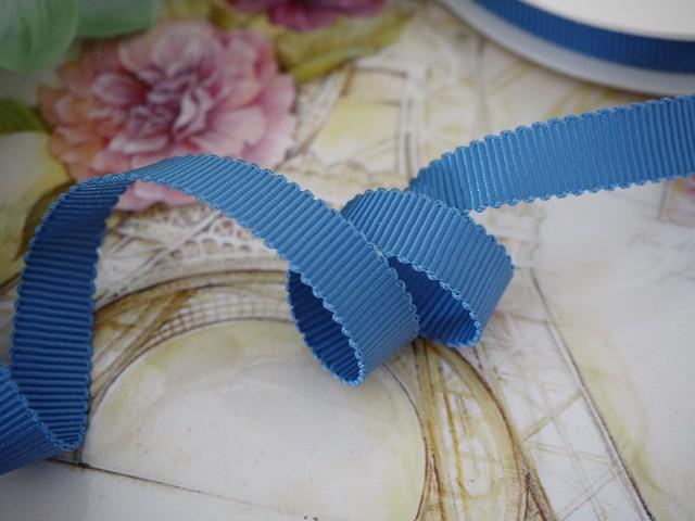 MOKUBA製リボン「グログラン8900☆No.21コスタールブルー」9mm
