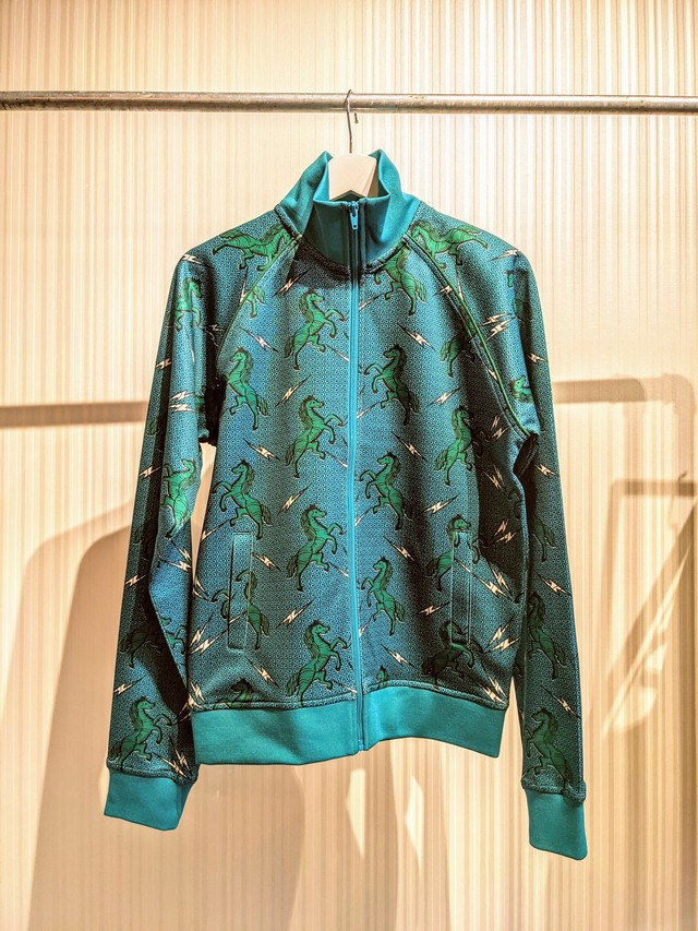 Crazy Horse Turquoise - African Print Track Jacket [C#4]