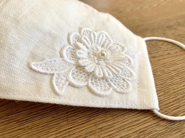 大人のレースマスク③ side lace leaf
