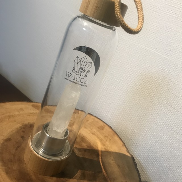 Woody Magic Wand Bottle<水晶/オブシディアン/ローズクォーツ>