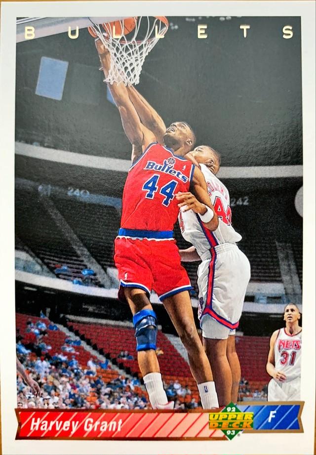 NBAカード 92-93UPPERDECK Harvey Grant #266 BULLETS
