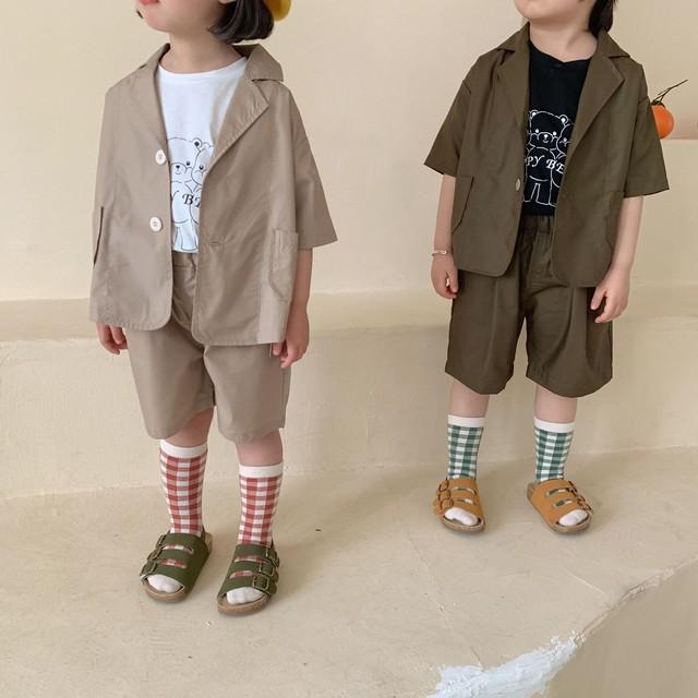 【先行予約】セットアップ ジャケット ハーフパンツ おそろい SS 春夏 韓国子供服