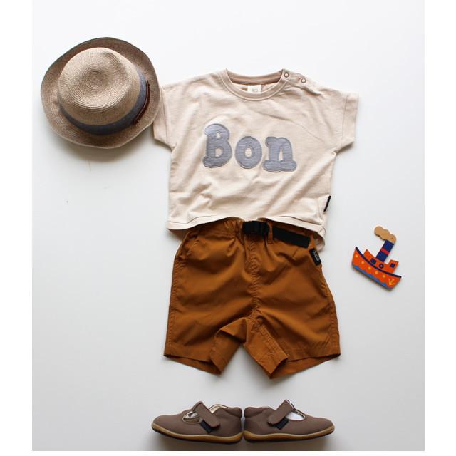 【RIO】C21800-12 ロゴアップリケワイドTシャツ 80-140㎝