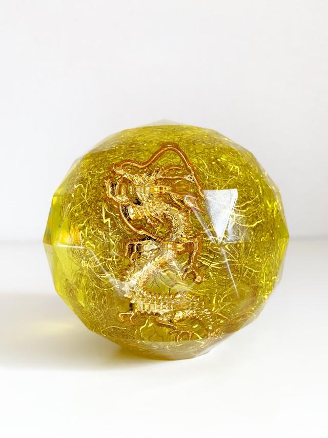 【特大宝珠オルゴナイト・37】黄龍