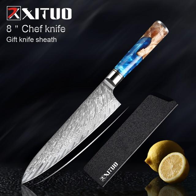 XITUO  牛刀 刃渡り 21cm  7CR17  ks20082406