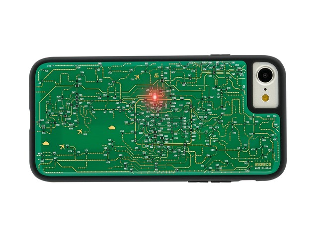 FLASH 関西回路線図 iPhoneSE(第2世代)/7/8 ケース 緑【東京回路線図A5クリアファイルをプレゼント】