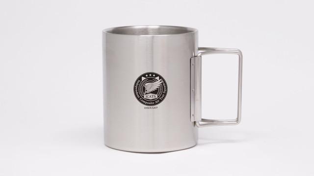 ガーリー・エアフォース I.C.A.T.S.部隊折りたたみステンレスマグカップ