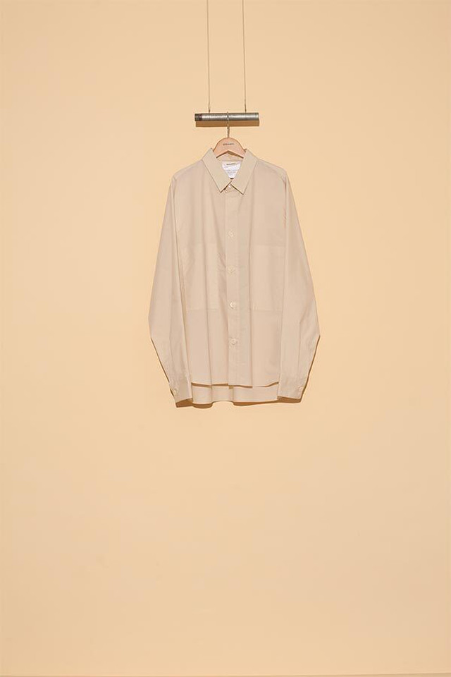 DIGAWEL / BIG BUTTON SHIRT(GREGE)