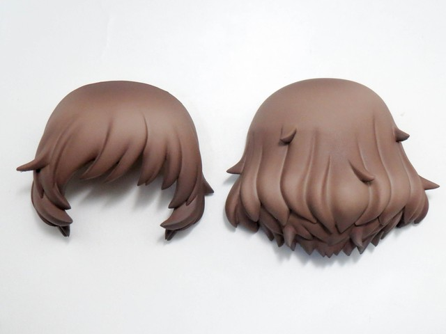 【412】 秋山優花里 髪パーツ セミロング ねんどろいど
