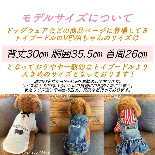 VEVARASANA®︎ ドッグTシャツ WHITE