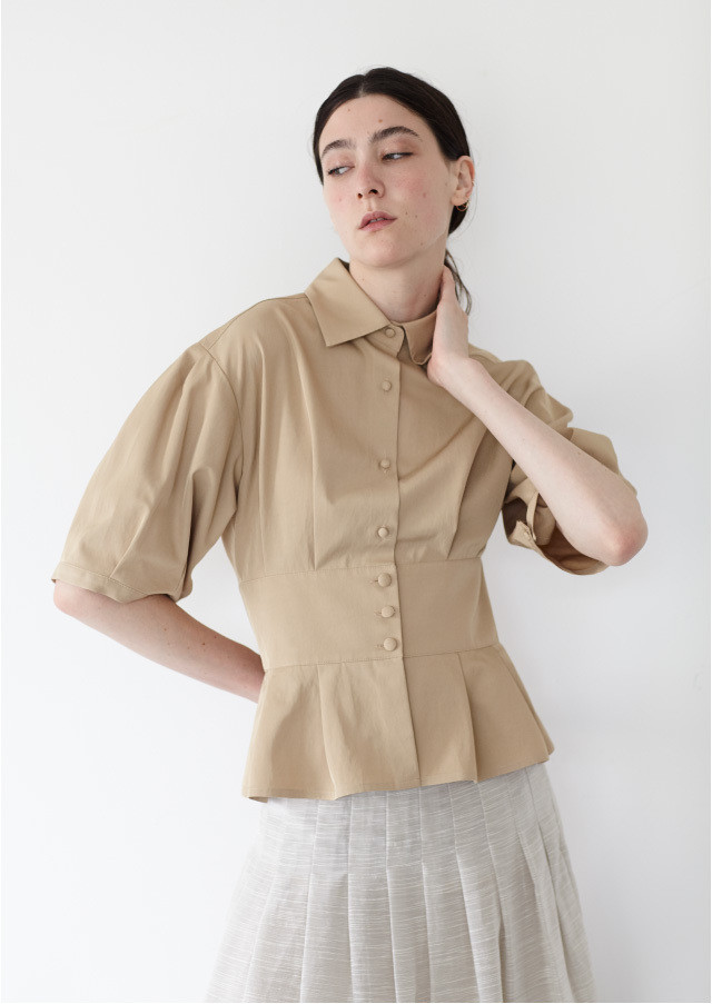 Twill corset blouse